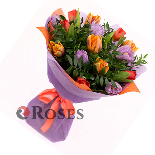 "Bouquet ""Maroni"" 15 tulips"