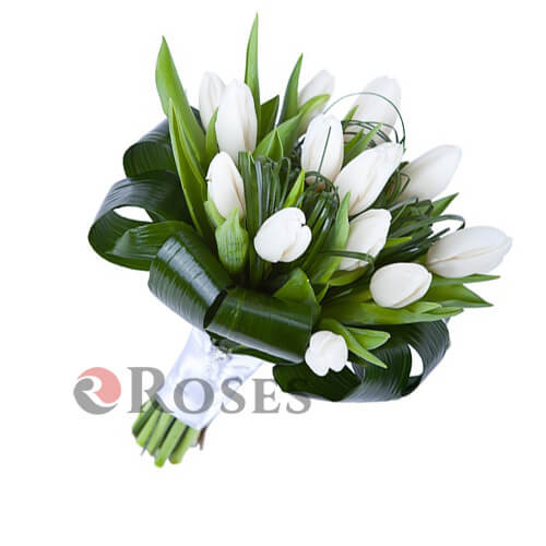 "Bouquet ""Merry"" 15 tulips"